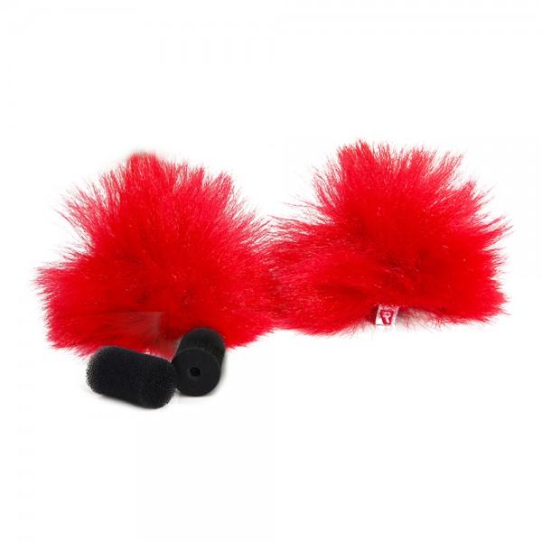 Rycote - Red Lavalier Windschutz - pair Rycote