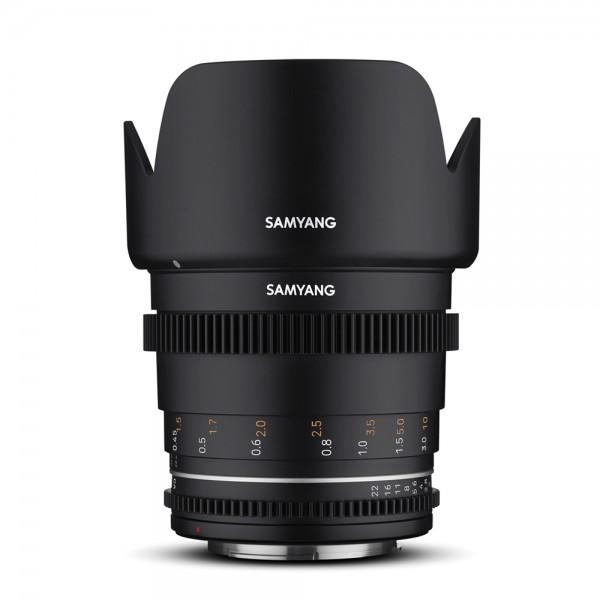 Samyang - MF 50mm T1,5 VDSLR MK2 mit Canon EF-Mount Samyang