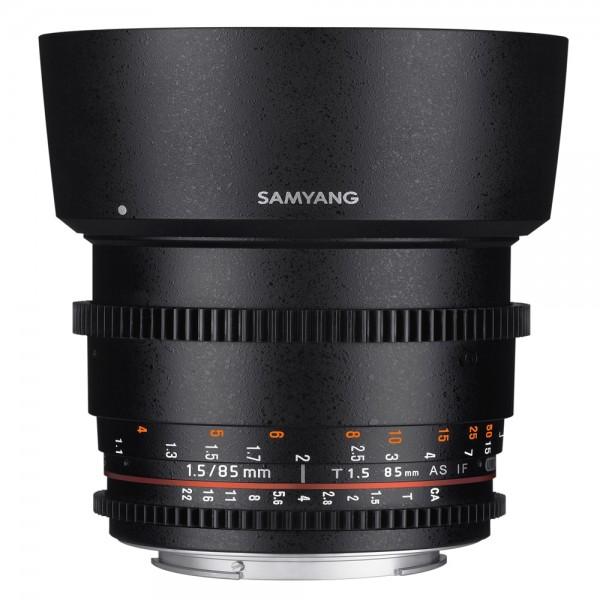 Samyang - 85/1.5 Video DSLR Objektiv für Canon EF Samyang