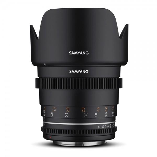 Samyang - MF 50mm T1,5 VDSLR MK2 mit Sony E-Mount Samyang